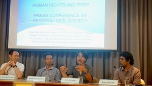 Press Conference on Human Rights and the Regional Comprehensive Economic Partnership (RCEP) in Bangkok, Thailand. Photo: APWLD