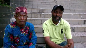 Linus Orok (left) and Patrick Chi of Ekong Anaku village, Nigeria