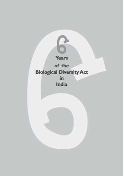 6 years of the Biological Diversity Act in India-image