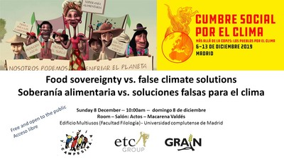 GRAIN at the Social Climate Summit in Madrid-image